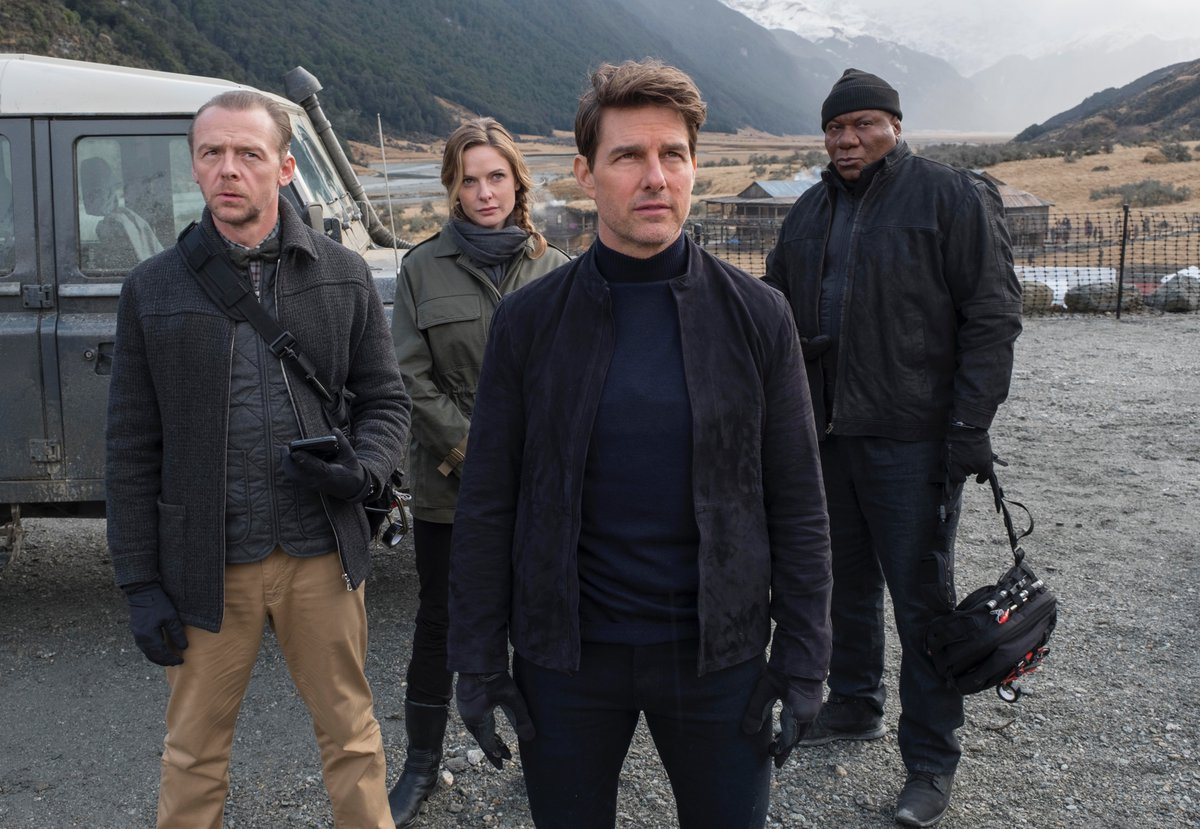 Tom Cruise, Ving Rhames, Rebecca Ferguson, and Simon Pegg in Mission: Impossible - Fallout (2018)