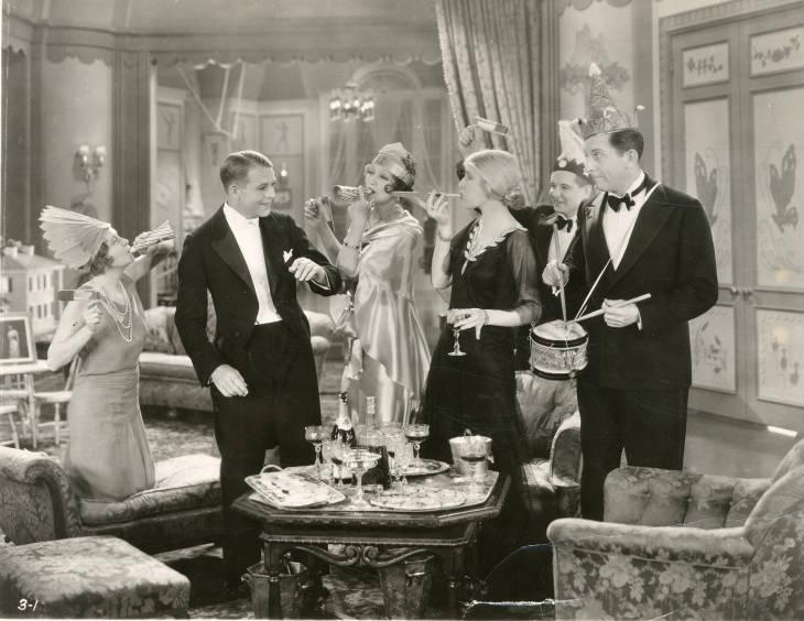 Edward Everett Horton, Robert Ames, Ann Harding, and Hedda Hopper in Holiday (1930)