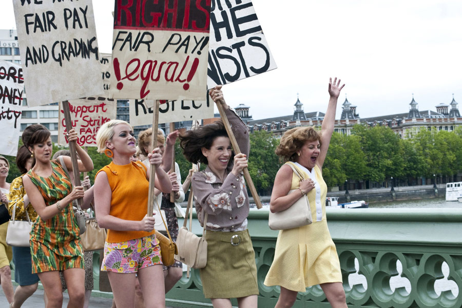 Geraldine James, Sally Hawkins, Lorraine Stanley, Jaime Winstone, and Andrea Riseborough in Made in Dagenham (2010)