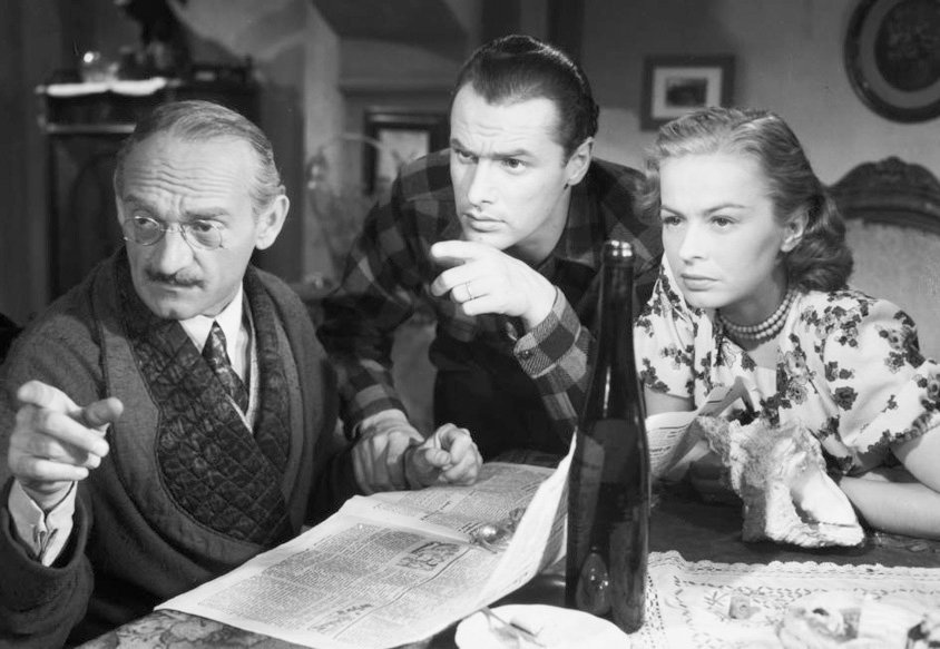 Jerzy Duszynski, Ludwik Sempolinski, and Danuta Szaflarska in Skarb (1949)