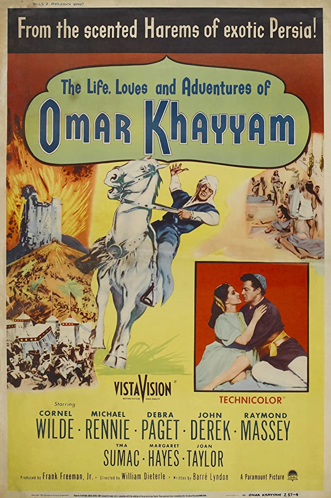 Debra Paget and Cornel Wilde in Omar Khayyam (1957)
