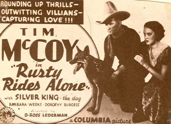 Tim McCoy, Barbara Weeks, and Silver King the Dog in Rusty Rides Alone (1933)