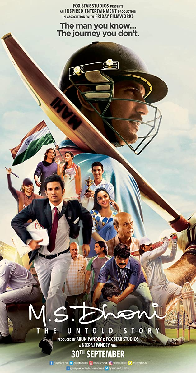 Subtitle of M.S. Dhoni: The Untold Story
