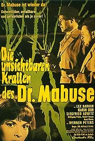 Lex Barker, Karin Dor, and Siegfried Lowitz in Die unsichtbaren Krallen des Dr. Mabuse (1962)