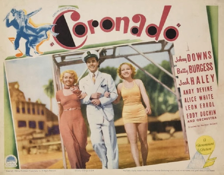 Betty Burgess, Johnny Downs, and Alice White in Coronado (1935)