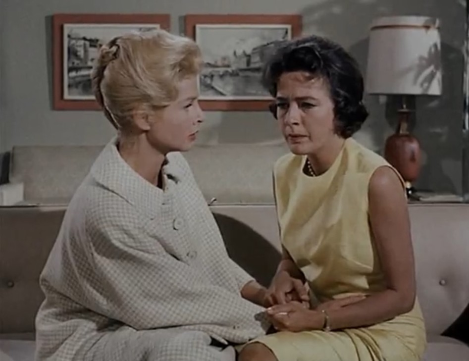 Leora Dana and Mary Peach in A Gathering of Eagles (1963)