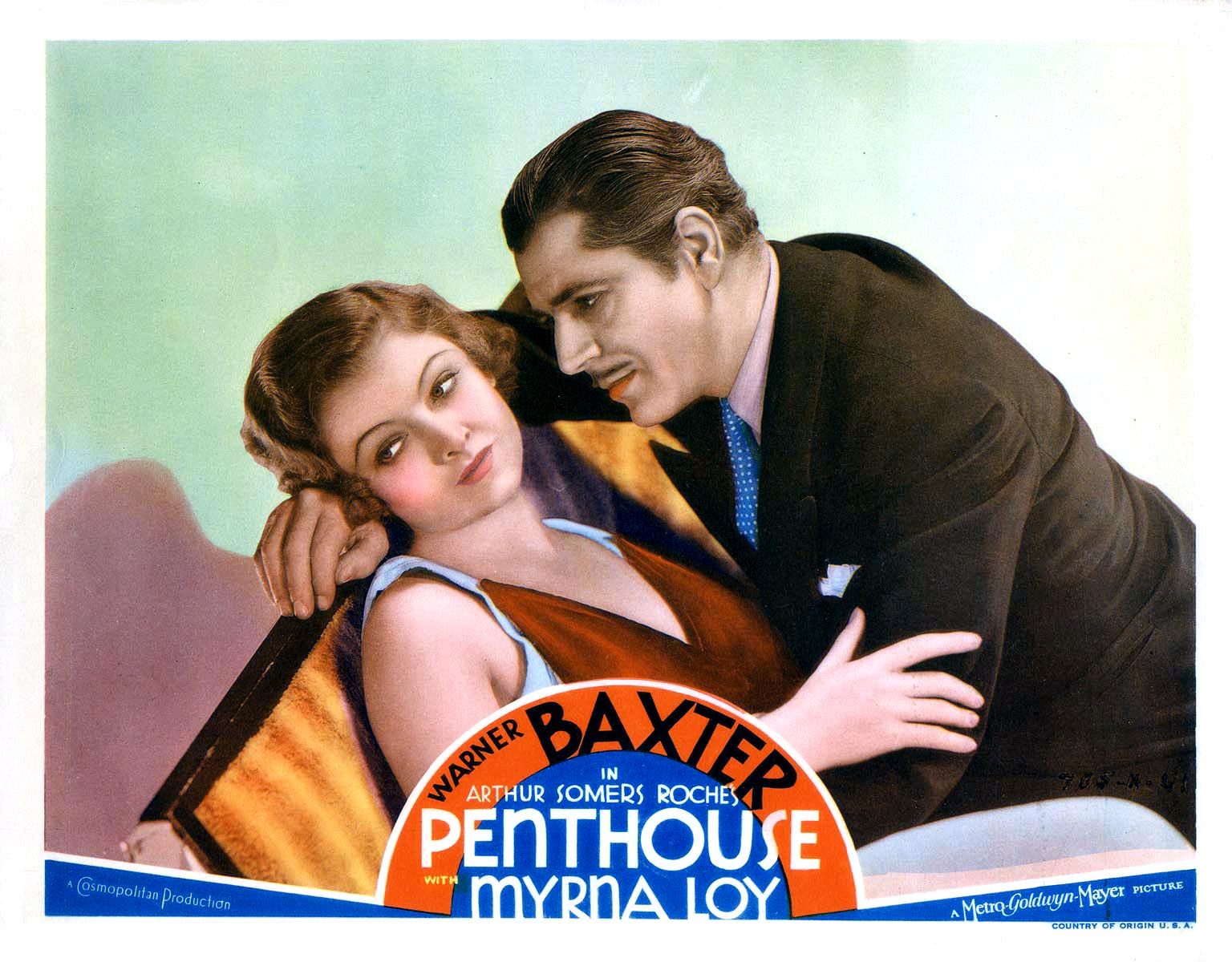 Myrna Loy and Warner Baxter in Penthouse (1933)