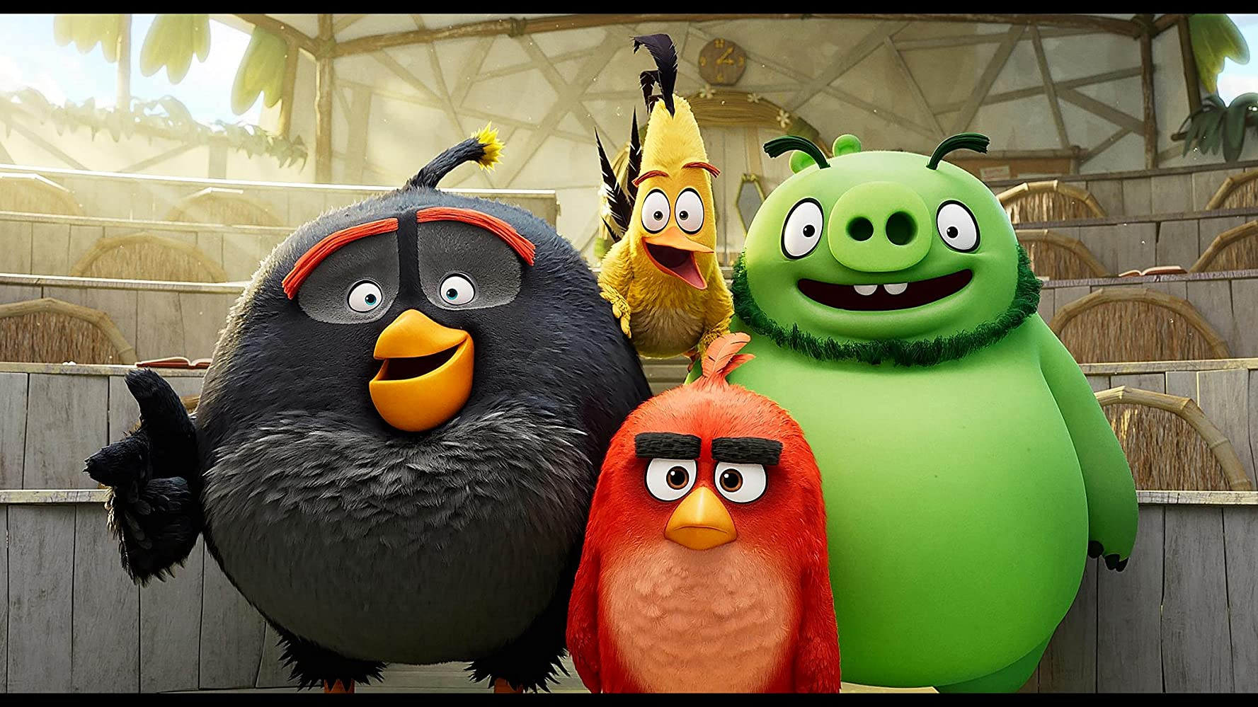 Bill Hader, Jason Sudeikis, Danny McBride, and Josh Gad in The Angry Birds Movie 2 (2019)