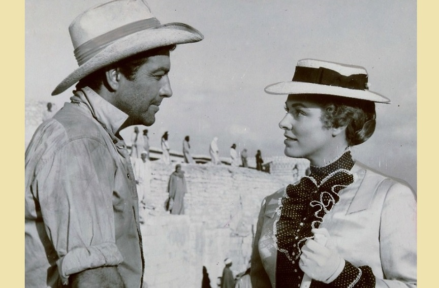 Robert Taylor and Eleanor Parker in Valley of the Kings (1954)
