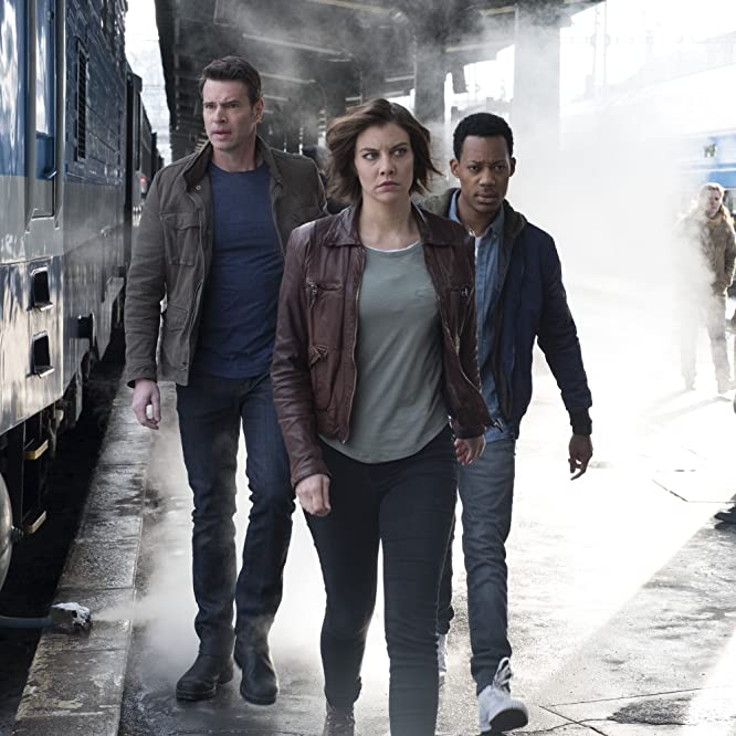 Scott Foley, Lauren Cohan, and Tyler James Williams in Whiskey Cavalier (2019)