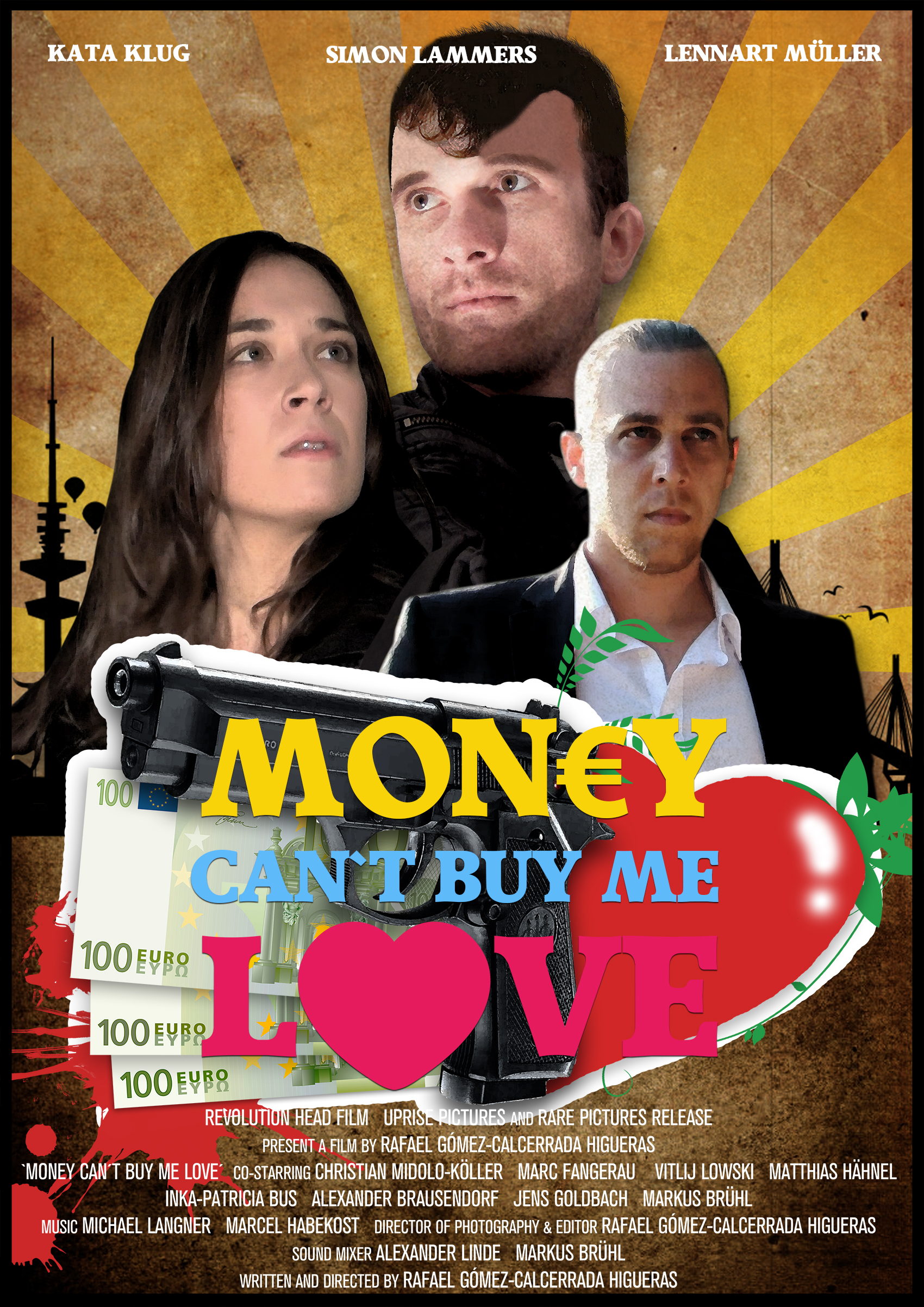 Lennart Müller, Kata Klug, and Simon Lammers in Money Can't Buy Me Love (2014)