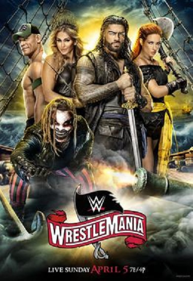WrestleMania 36 (2020) English PPV Part 1 720p HDRip 1.2GB | 550MB Download