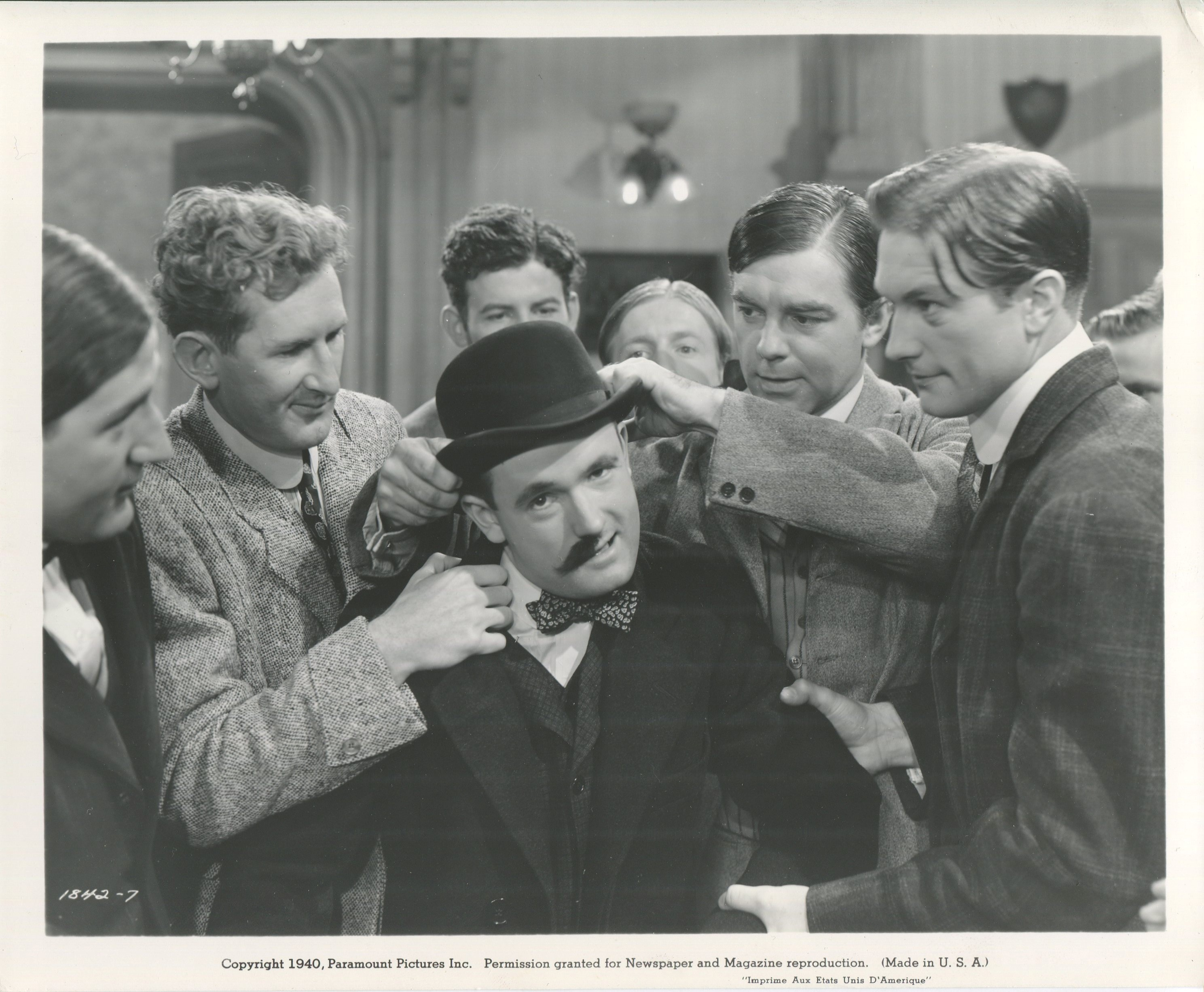 Richard Denning, Douglas Kennedy, John Laing, James Seay, Ezra Stone, and Phillip Terry in Those Were the Days! (1940)