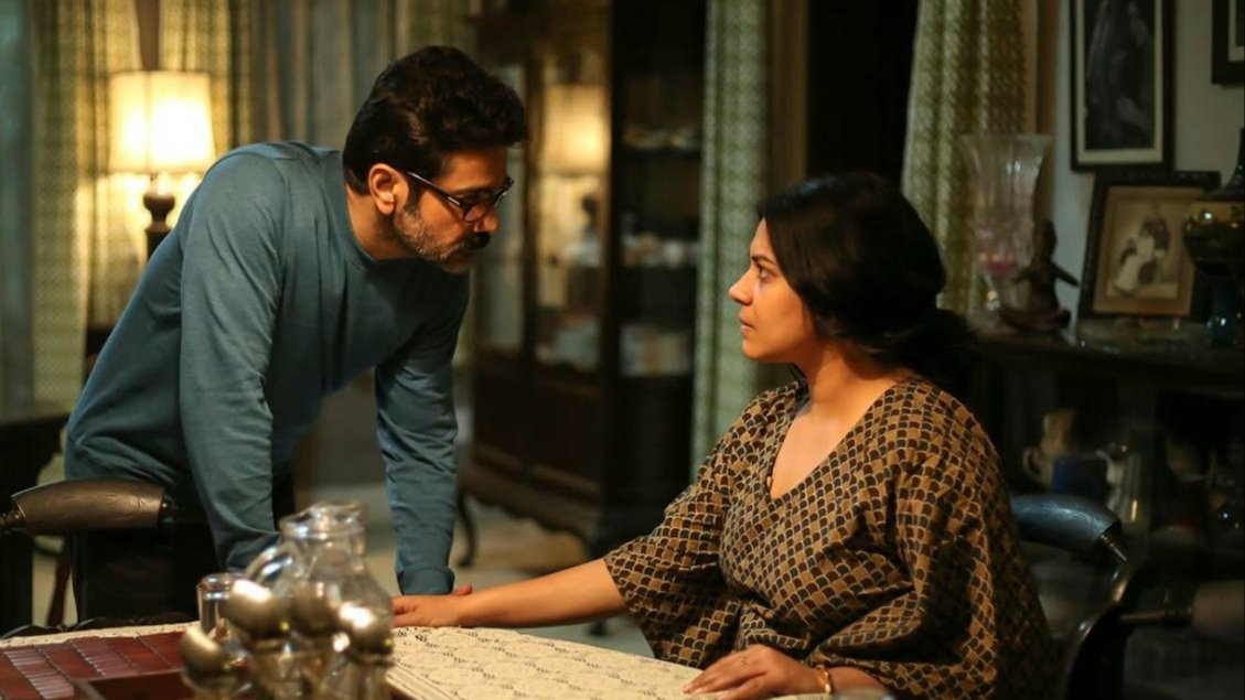Prasenjit Chatterjee and Ankita Majhi in Nirontor (2020)