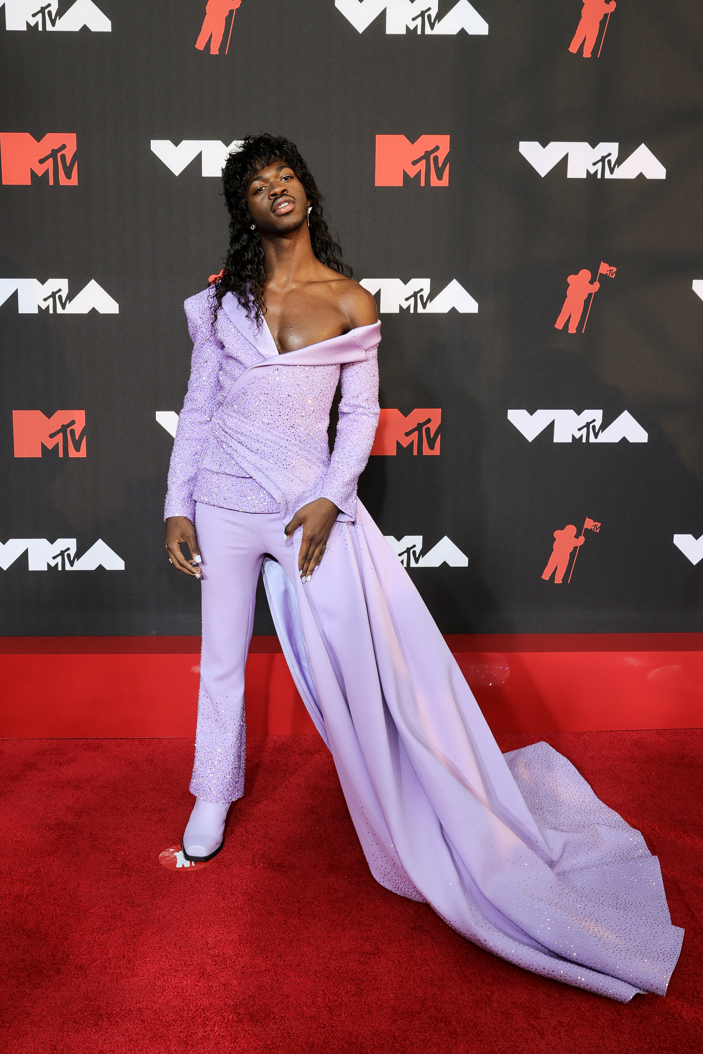 Lil Nas X at an event for 2021 MTV Video Music Awards (2021)