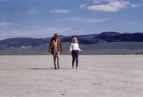 Marilyn Monroe, John Huston, and Al St. Hilaire in The Misfits (1961)