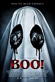 Jill Marie Jones, Rob Zabrecky, Aurora Perrineau, and Jaden Piner in Boo! (2018)