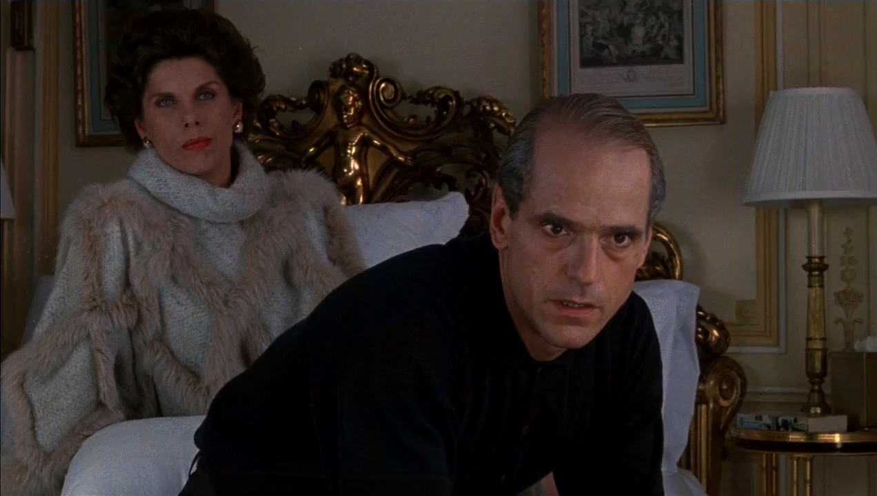 Jeremy Irons and Christine Baranski in Reversal of Fortune (1990)