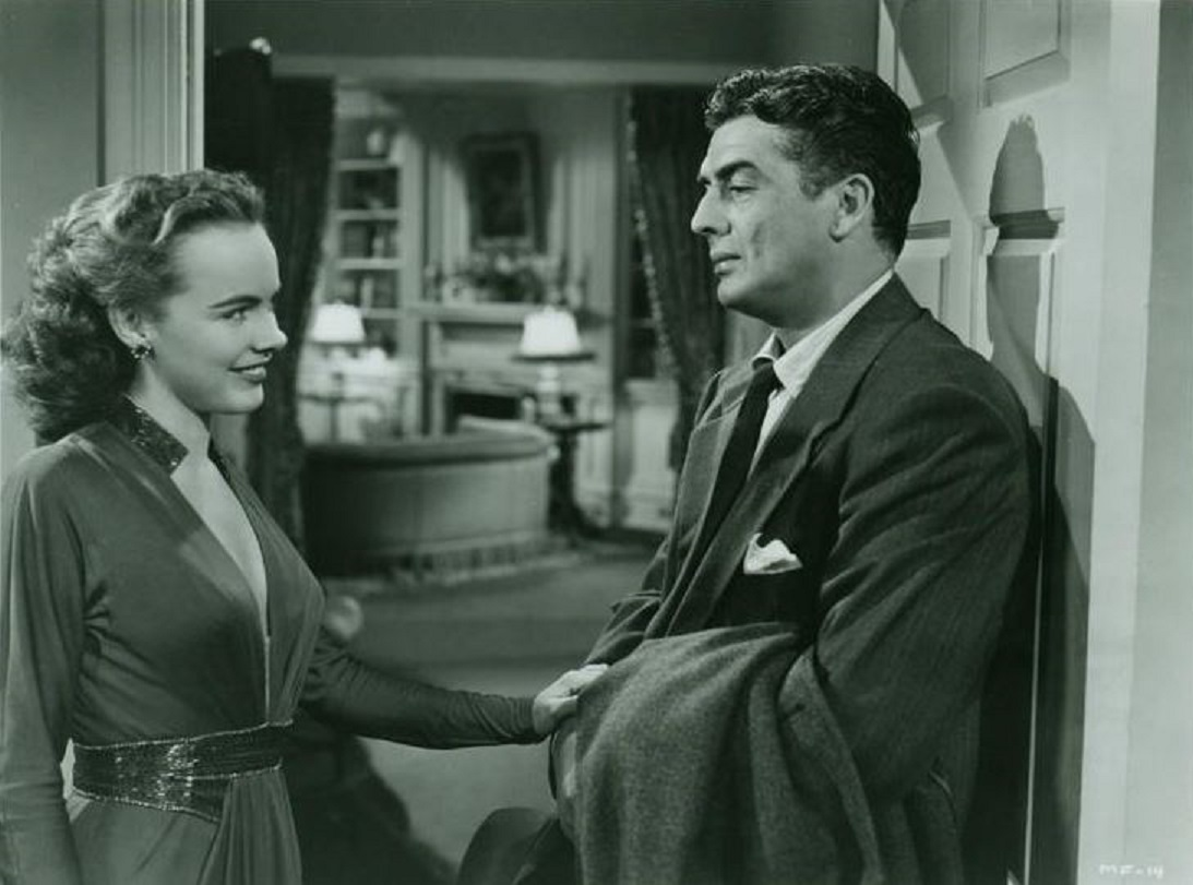 Victor Mature and Terry Moore in Gambling House (1950)
