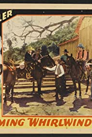 Bob Burns, Yakima Canutt, Lane Chandler, Jack Kirk, Jack Rockwell, Harry Todd, and Raven the Horse in The Wyoming Whirlwind (1932)
