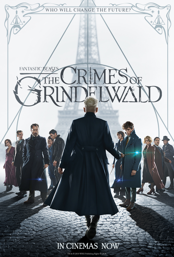 Johnny Depp, Jude Law, Dan Fogler, William Nadylam, Alison Sudol, Eddie Redmayne, Katherine Waterston, Claudia Kim, Zoë Kravitz, Ezra Miller, and Callum Turner in Fantastic Beasts: The Crimes of Grindelwald (2018)