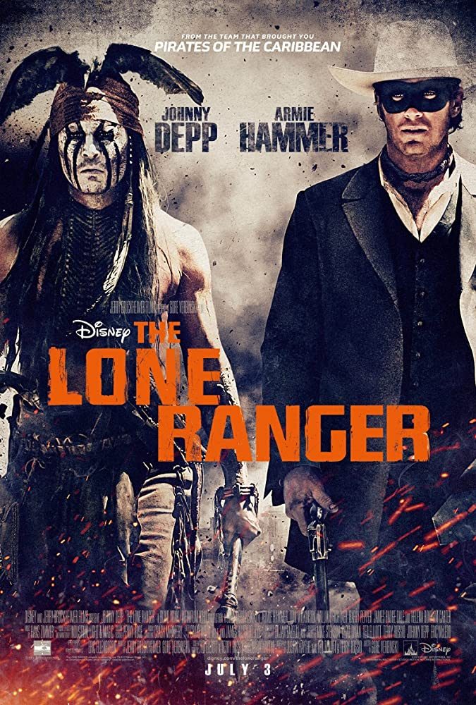 Johnny Depp and Armie Hammer in The Lone Ranger (2013)