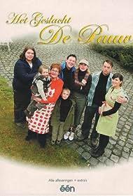 Benny Claessens, Bart De Pauw, Tom Waes, Maaike Cafmeyer, Josée Van Causbroeck, Tine Van den Wyngaert, Quinten De Pauw, and Amélie De Pauw in Het geslacht De Pauw (2004)