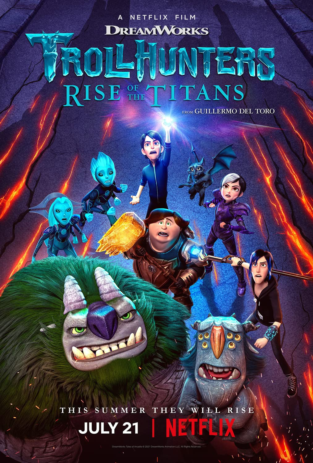 Trollhunters Rise of the Titans 2021 Hindi Dual Audio ORG NF HDRip 350MB Download