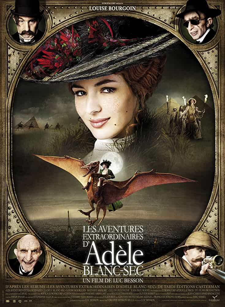 Download The Extraordinary Adventures of Adele Blanc-Sec  (2020) Dual Audio Full Movie {Hindi-Eng} 480p [350MB]   720p [900MB]