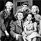 Warren Berlinger, Peter Hobbs, Jean Mowry, Jada Rowland, and Haila Stoddard in The Secret Storm (1954)