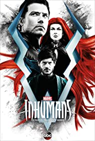Anson Mount, Serinda Swan, and Iwan Rheon in Inhumans (2017)