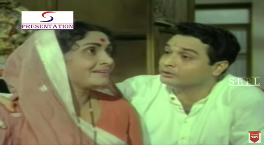 Biswajit Chatterjee and Sulochana Latkar in Nai Roshni (1967)