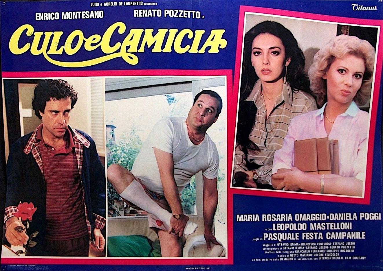Enrico Montesano, Maria Rosaria Omaggio, Daniela Poggi, and Renato Pozzetto in Culo e camicia (1981)