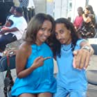 """Fabiola Calixte w/ Director, Dale Stelly on the set of """"Tamales and Gumbo"""""""