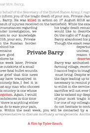 Private Barry Poster