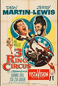 Zsa Zsa Gabor, Jerry Lewis, Dean Martin, and Joanne Dru in 3 Ring Circus (1954)
