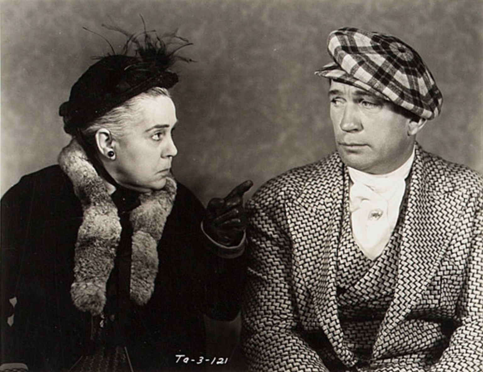 Victor McLaglen and Beryl Mercer in Devil's Lottery (1932)