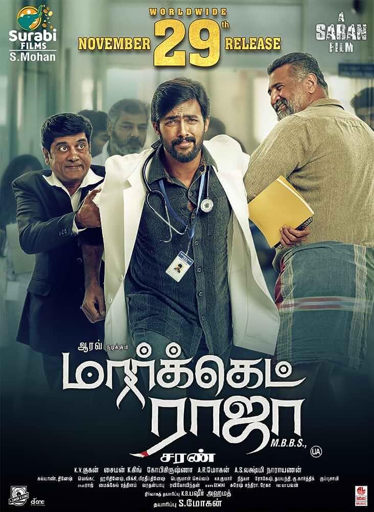 Market Raja MBBS (2019) Tamil 480p HDRip x264 AAC ESubs Full  (400MB) Full Movie Download