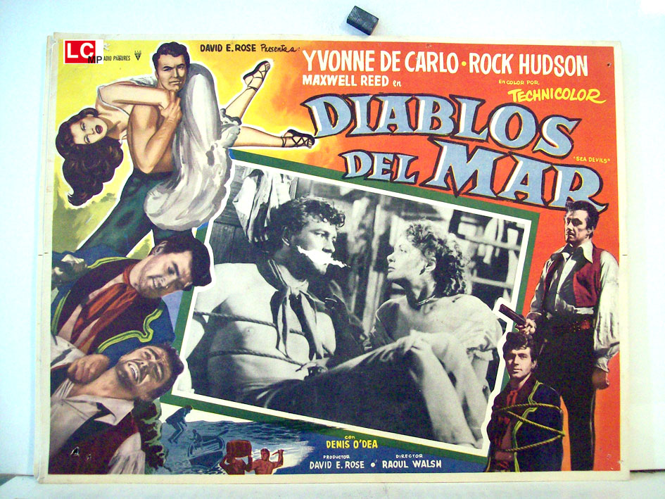 Yvonne De Carlo and Rock Hudson in Sea Devils (1953)