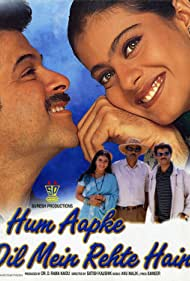 Kajol and Anil Kapoor in Hum Aapke Dil Mein Rehte Hain (1999)