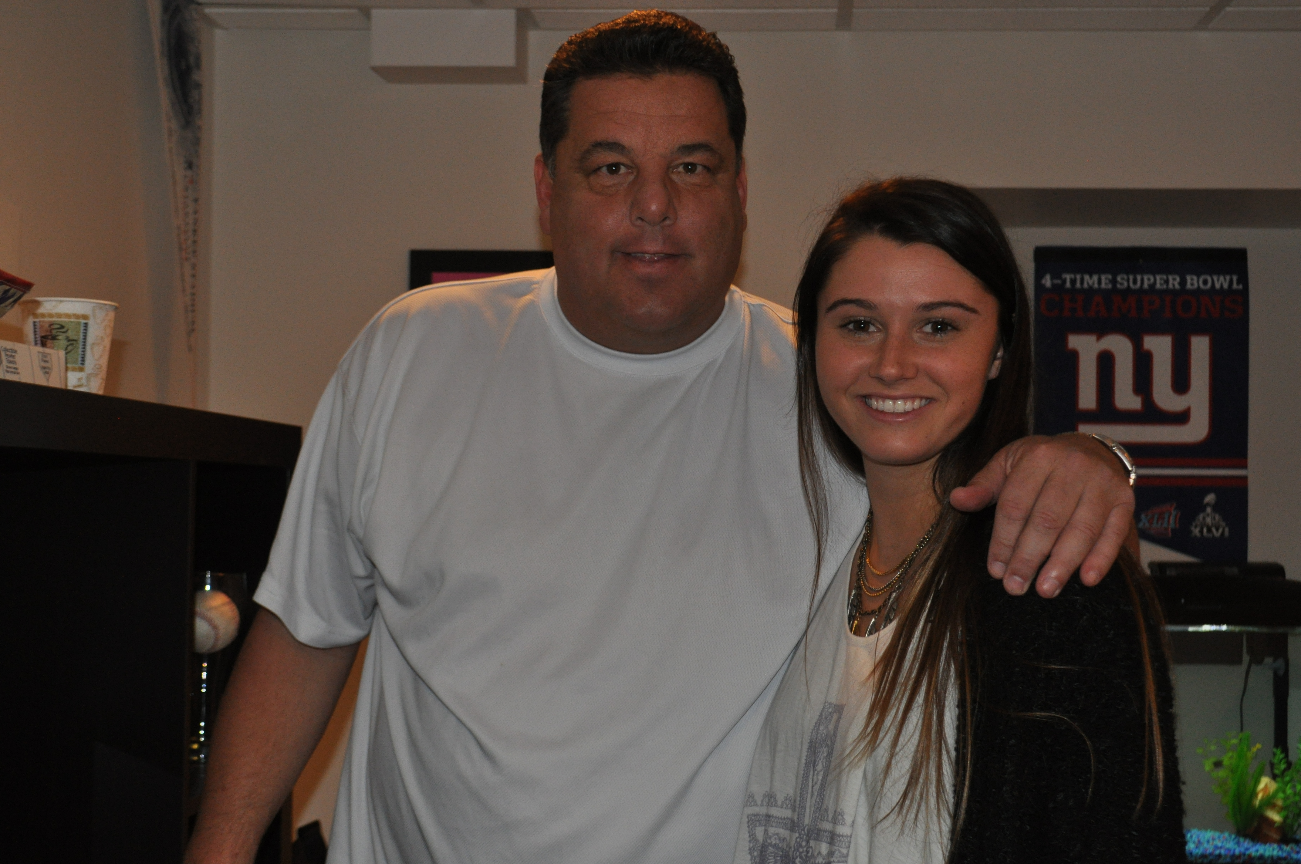 "Courtney Baxter and Steve Schirripa on the set of ""Running on Empty"" October 2013"