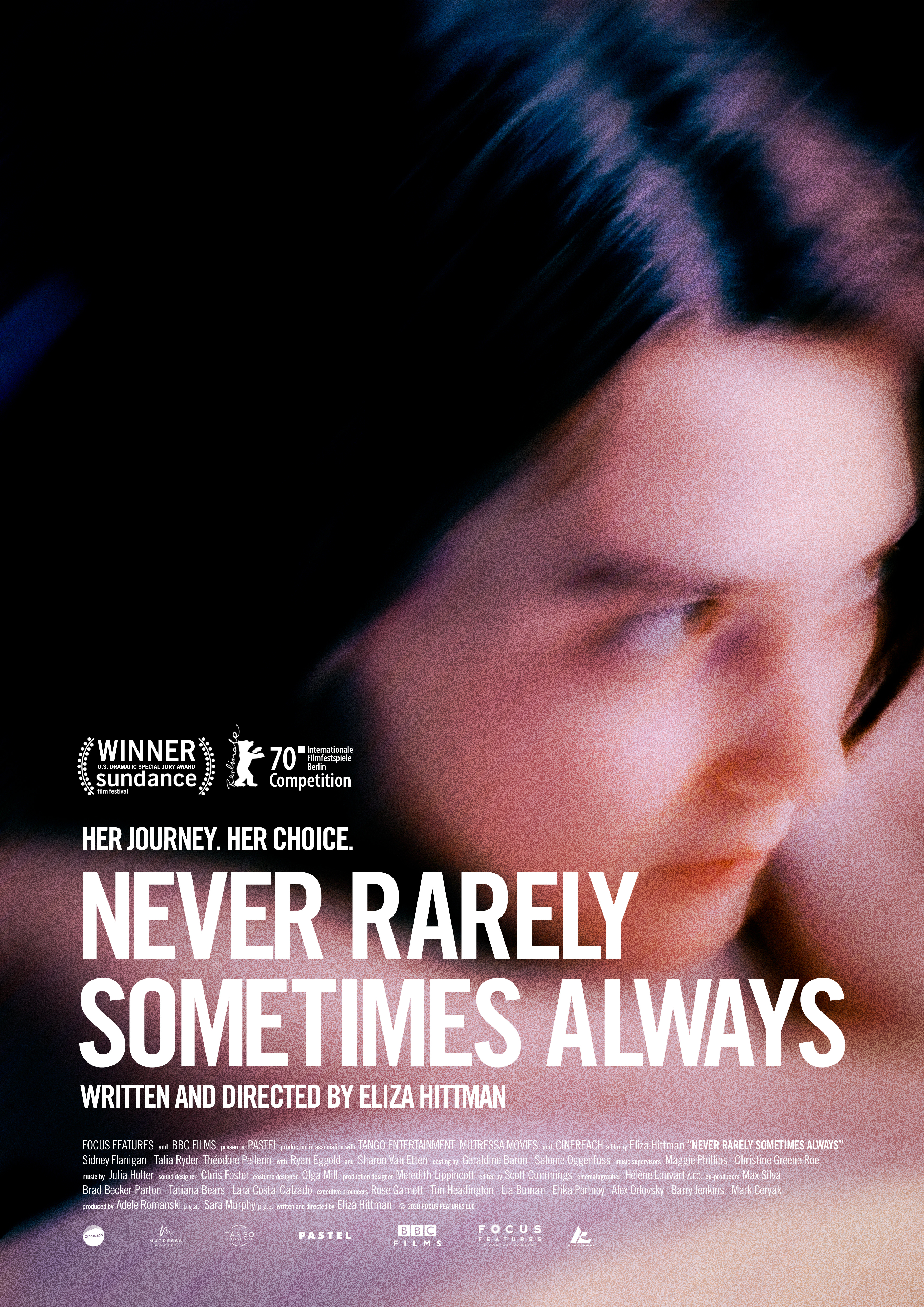 Promotional poster for NEVER RARELY SOMETIMES ALWAYS
