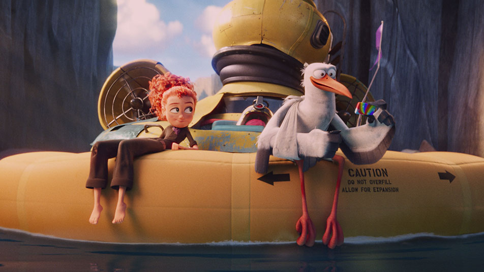 Andy Samberg and Katie Crown in Storks (2016)