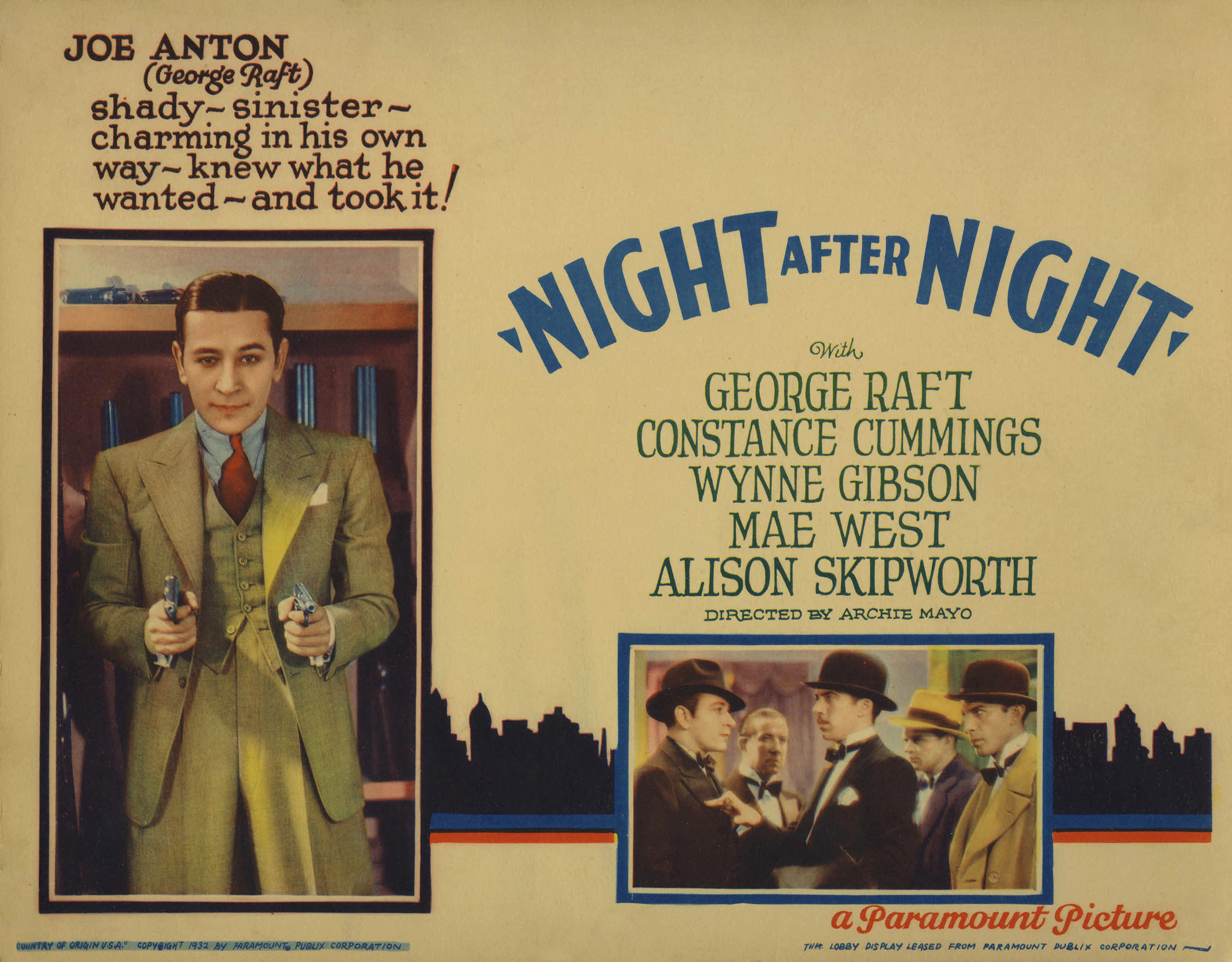 Bradley Page and George Raft in Night After Night (1932)
