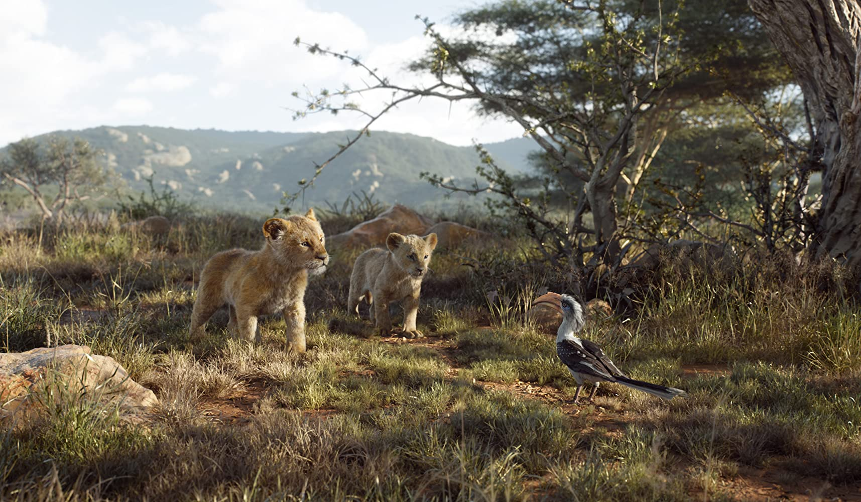 John Oliver, JD McCrary, and Shahadi Wright Joseph in The Lion King (2019)