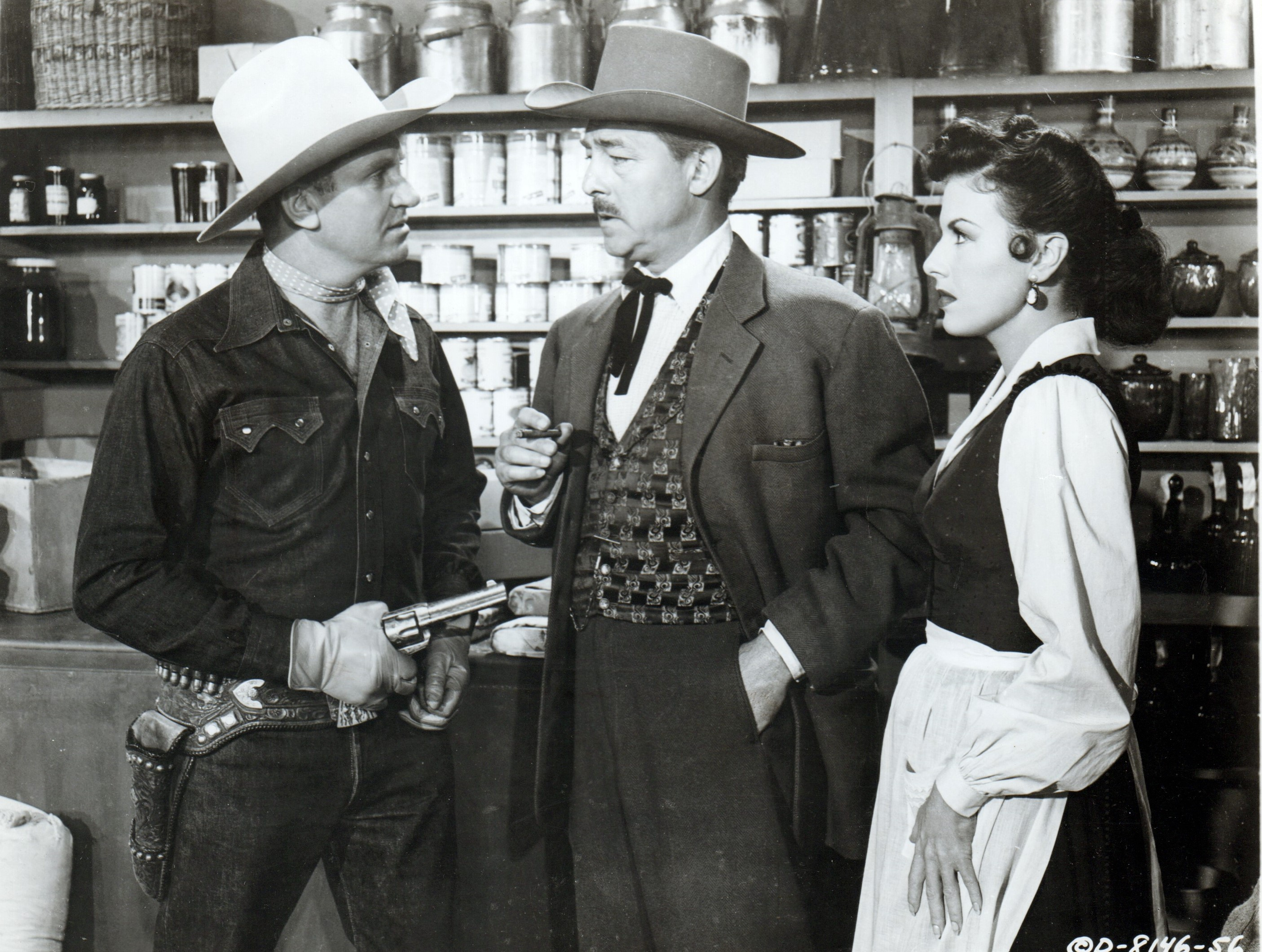 Gene Autry, Gail Davis, and Kenne Duncan in Pack Train (1953)