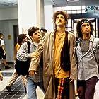 Sean Astin, Brendan Fraser, Rose McGowan, and Pauly Shore in Encino Man (1992)