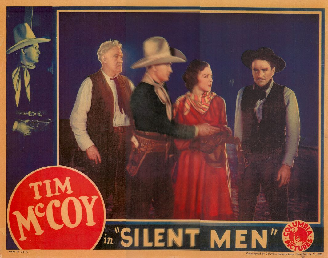 Tim McCoy, Florence Britton, Joseph W. Girard, and Wheeler Oakman in Silent Men (1933)