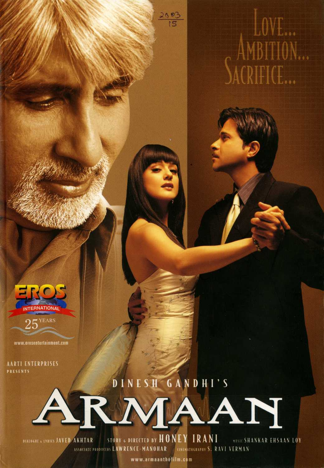 Armaan 2003 Hindi 485MB AMZN HDRip ESubs Download