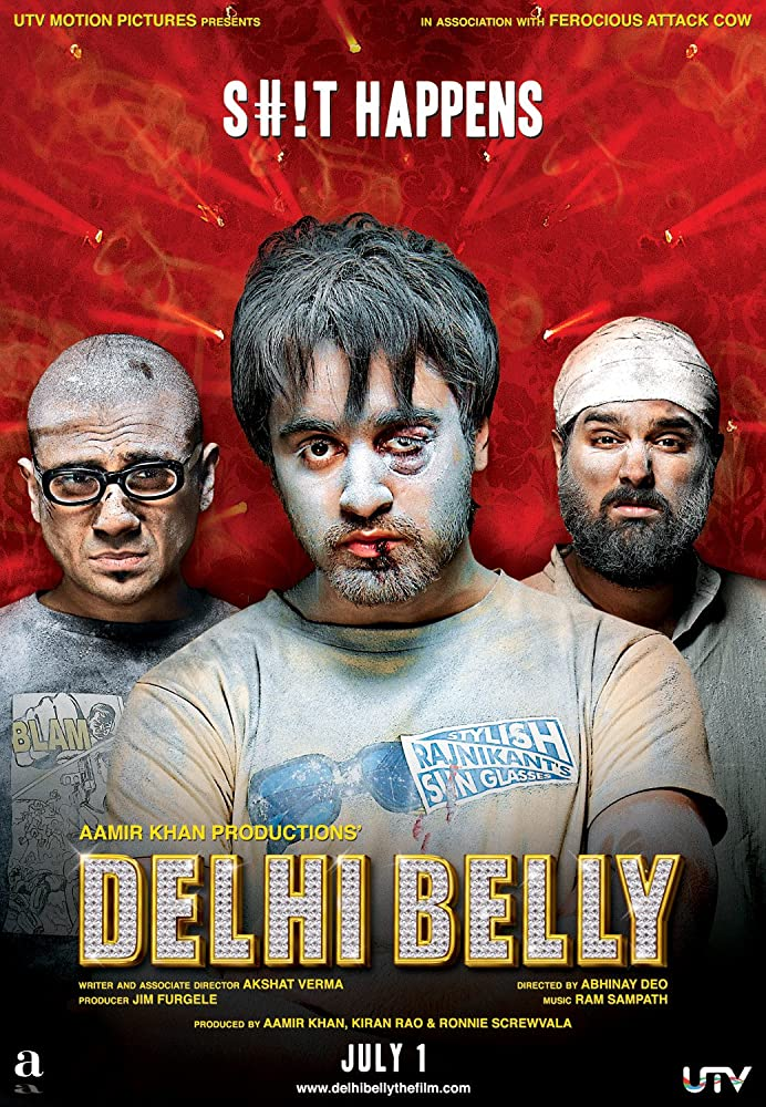 Delhi Belly 2011 Hindi Movie 720p HDRip 900MB ESub Download
